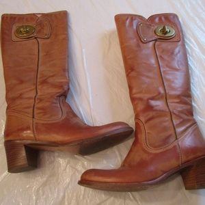 Coach Tan Leather Boots